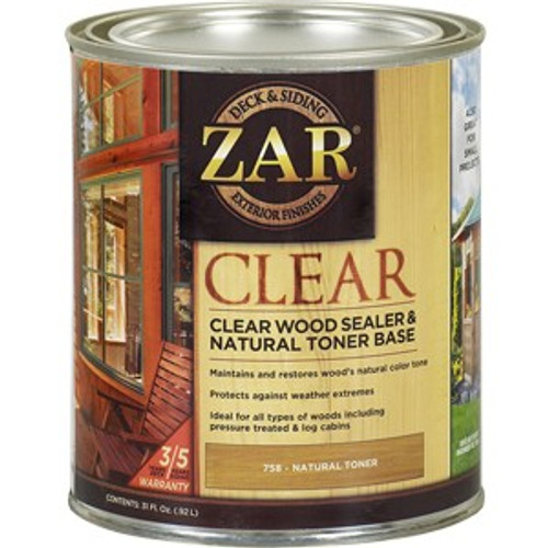 ZAR 75812 Qt Clear Wood Sealer & Natural Toner Base