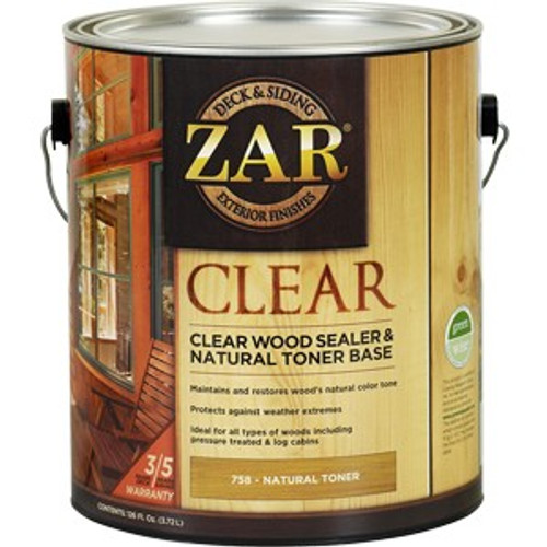 Zar 75813 1G Clear Wood Sealer & Natural Toner Base