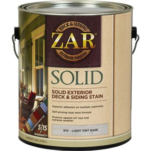 Zar 81013 1G Light Tint Base Solid Color Stain