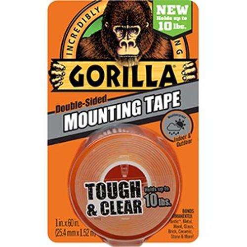 """Gorilla Glue 6065003 1"""" x 60"""" Clear Mounting Gorilla Glue Tape"""