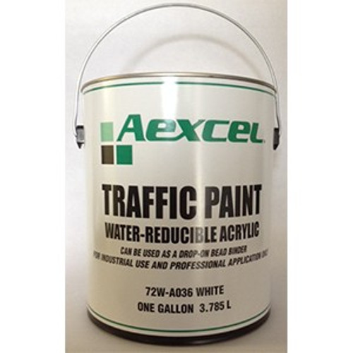 Aexcel 72WA036 1G WB White Traffic Paint Regular Dry