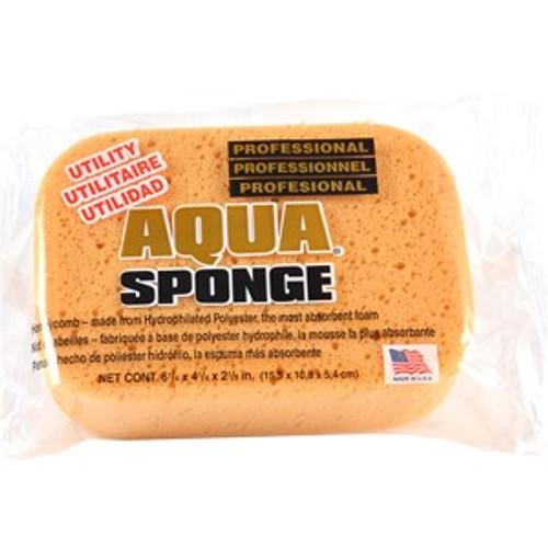 "Acme AF2L 6.25"" x 4.25"" x 2-1/8"" Fine Pore Aqua Utility Sponge"