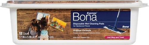 Bona AX0003506 Hardwood Wet Cleaning Pads - 12Pk Tub - 6ct. Case