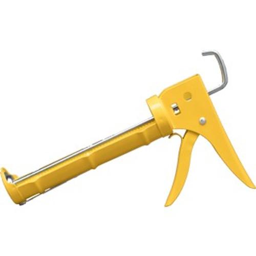 Dripless CR250 10 oz. Yellow Ratchet Rod 10:1 Ratio Caulk Gun