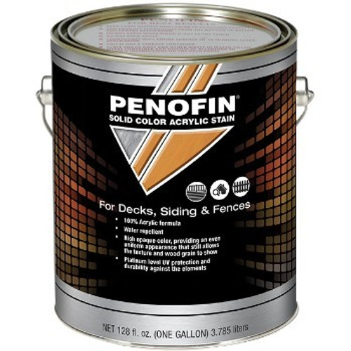 Penofin F1SBNGA 1G Neutral Base Solid Acrylic Deck & Siding Stain Low VOC