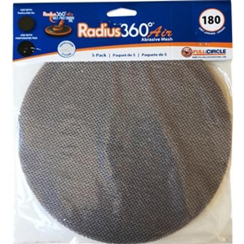FCI MESH SD180-5 Mesh Abrasive for Radiud360 Air 180 Grit 5Pk