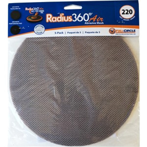FCI MESH SD220-5 Mesh Abrasive for Radiud360 Air 220 Grit 5Pk