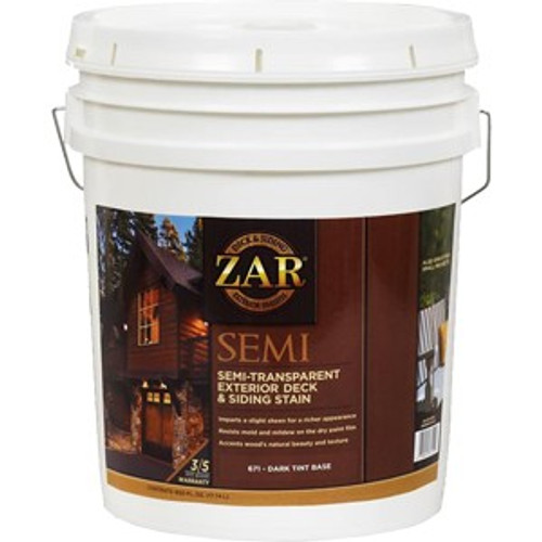 Zar 67115 5G Dark Base Semi-Trans Deck & Siding Stain