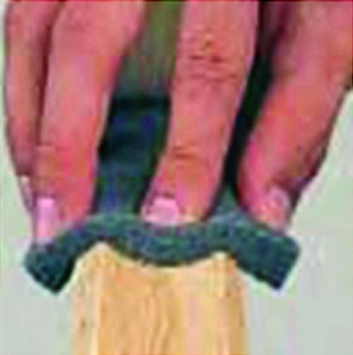 """Norton 00949 3"""" x 4"""" x 1/2"""" 150 Grit Flex Sanding Pad Bulk 108Pk - 108ct. Case"""