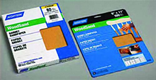 """NORTON 01505 9"""" X 11"""" 80A GARNET PAPER PK 1/50"""