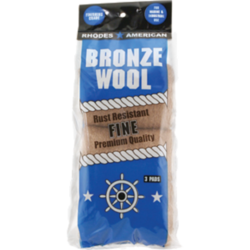 RHODES AMERICAN 123100 FINE BRONZE WOOL 3 PAD POLY PACK