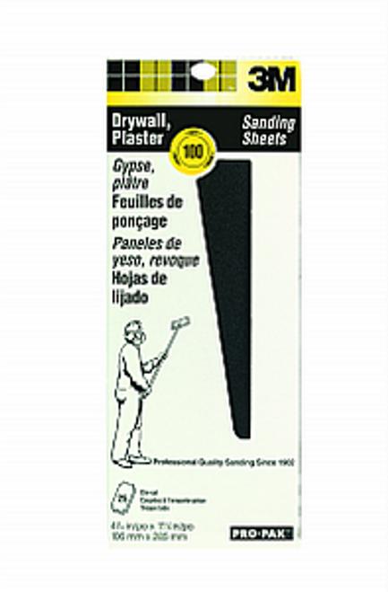 "3M 99432 4-3/16"" x 11-1/4"" 100C Drywall Sanding Sheet 25Pk"