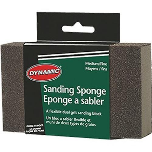 Dynamic AG562601 Medium/Fine Carded Sanding Sponge Display Box 12Pk