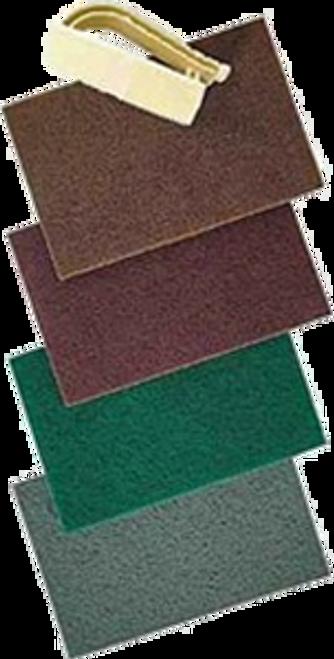 "NORTON 79600 6"" X 9"" GREEN HD HAND FINISHING PAD BULK PK 1/20"