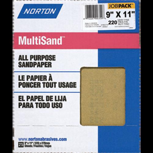 "NORTON 00354 9"" X 11"" 220A MULTISAND 25PK"