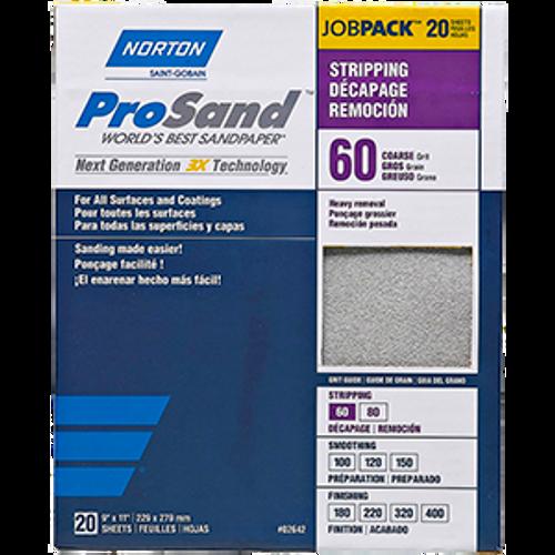 """NORTON 68175 9"""" X 11"""" 60 PROSAND SHEET 20PK"""