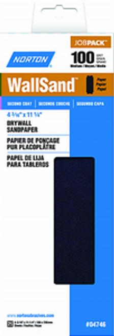 """NORTON 04746 4-3/16"""" X 11"""" P100D WALLSAND PAPER 25PK - 10ct. Case"""