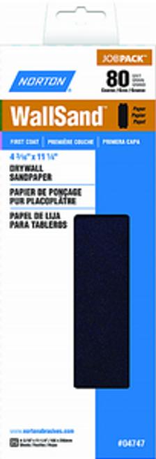 "NORTON 04747 4-3/16"" X 11"" P80D WALLSAND PAPER 25PK"