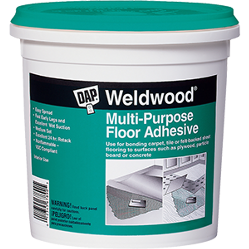DAP 00142 1G WELDWOOD MULTI PURPOSE FLOOR ADHESIVE