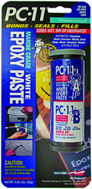 PROTECTIVE COATINGS 02011 2OZ PC-11 WHITE EPOXY PASTE MARINE GRADE