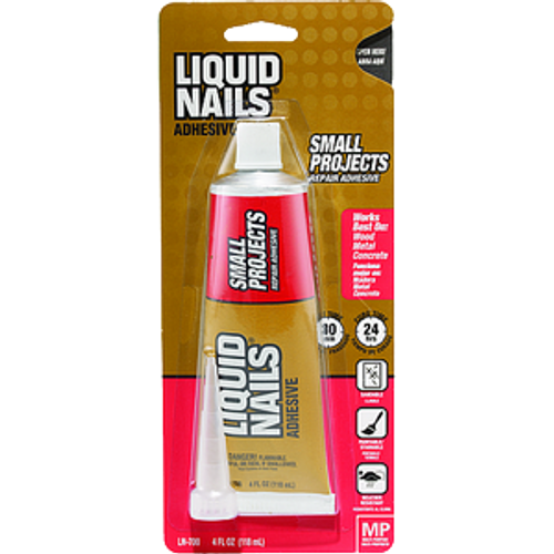 LIQUID NAILS LN-700 4OZ MULTI PURPOSE HOME REPAIR ADHESIVE SQUEEZE TUBE 20 VOC