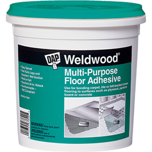 DAP 00141 QT WELDWOOD MULTI PURPOSE FLOOR ADHESIVE