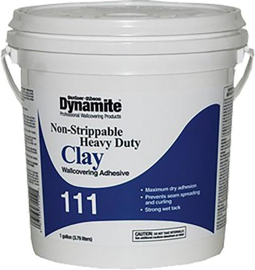 GARDNER GIBSON 7111-3-20 1G DYNAMITE 111 HD CLAY NONSTRIPPABLE WALLCOVERING ADHESIVE - 4ct. Case