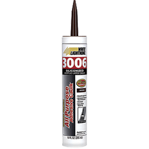 WHITE LIGHTNING 00810 10OZ BROWN 3006 CART ALL PURPOSE CAULK