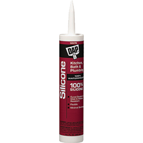 DAP 08640 10.1OZ WHITE 100% SILICONE BATHTUB SEALANT