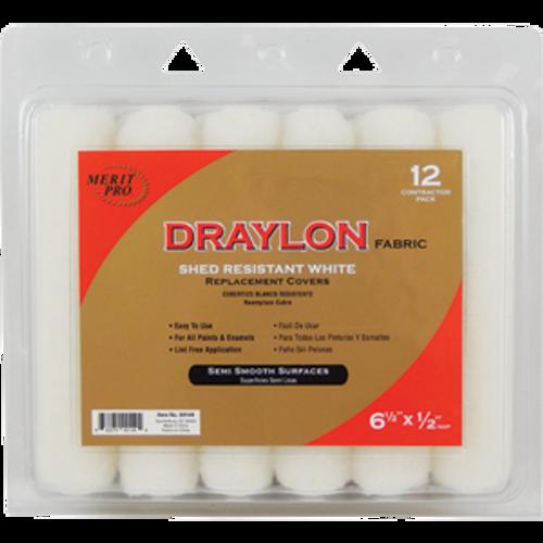 "MERIT PRO 00149 6-1/2"" X 1/2"" DRAYLON MINI ROLLER REPLACEMENT COVER 12PK"