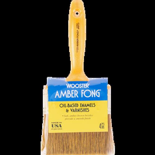 "WOOSTER 1123 4"" AMBER FONG VARNISH BRUSH BROWN CHINA BRISTLE - 6ct. Case"