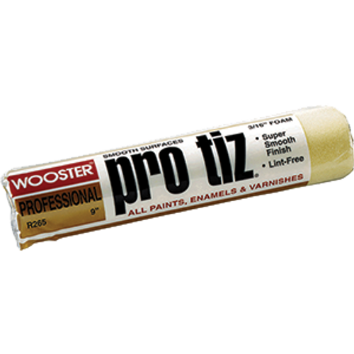 "WOOSTER R265 9"" PRO TIZ 3/16"" NAP ROLLER COVER"