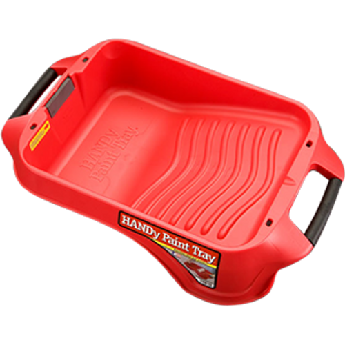 BERCOM 7500-CT RED DEEP WELL PAINT TRAY WITH HANDLES BUILT IN MAGNET POURS SPOUT AND LINER LOCKING