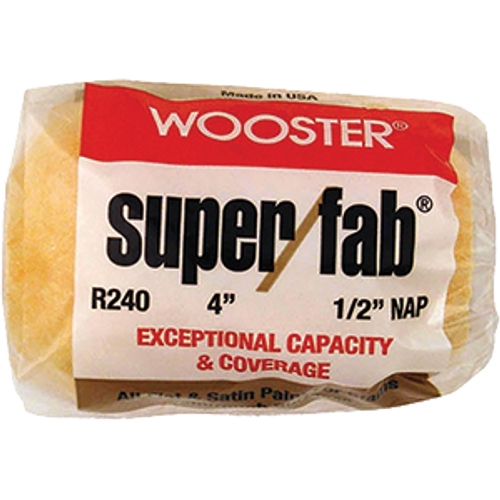 """WOOSTER R240 4"""" SUPER FAB 1/2"""" NAP ROLLER COVER"""