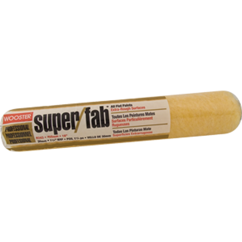 """WOOSTER R243 18"""" SUPER FAB 1-1/4"""" NAP ROLLER COVER - 6ct. Case"""