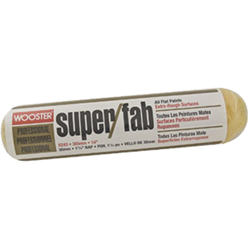 """WOOSTER R243 14"""" SUPER FAB 1-1/4"""" NAP ROLLER COVER"""