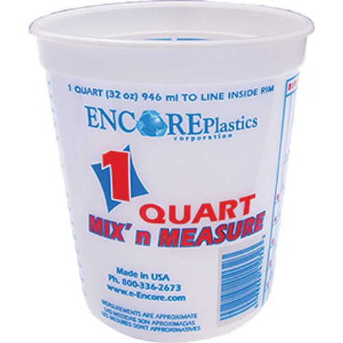 ENCORE 41032 QT POLY MIX N MEASURE CONTAINER WITH GRADUATIONS
