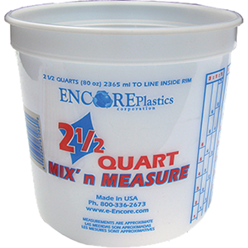 ENCORE 61086 2.5QT POLY MIX N MEASURE CONTAINER WITH GRADUATIONS