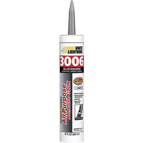 WHITE LIGHTNING 00610 10OZ GREY 3006 CART ALL PURPOSE CAULK