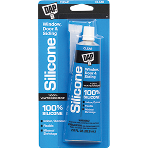 DAP 00684 3OZ CLEAR TUBE 100% SILICONE SEALANT
