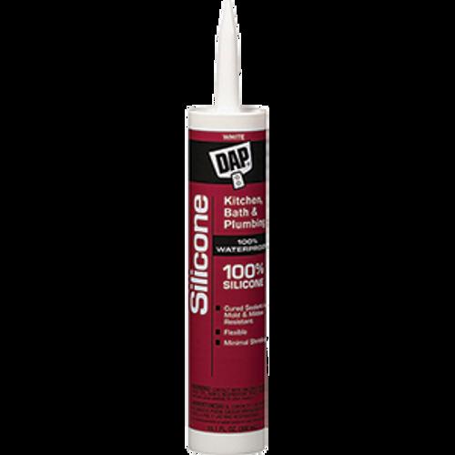 DAP 08640 10.1OZ WHITE 100% SILICONE BATHTUB SEALANT