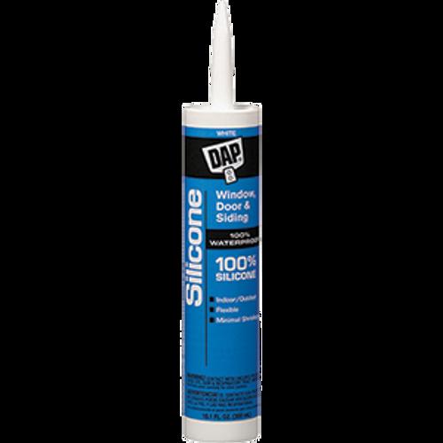 DAP 08646 10.1OZ WHITE 100% SILICONE