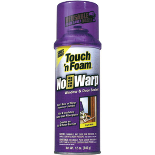 CONVENIENCE 4001044000 12OZ TOUCH N FOAM NO WARP WINDOW DOOR LEAST EXPANSION INSULATING FOAM