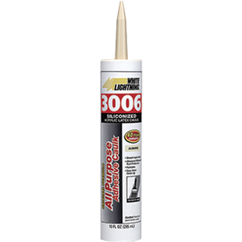 WHITE LIGHTNING 01010 10OZ ALMOND 3006 CART ALL PURPOSE CAULK