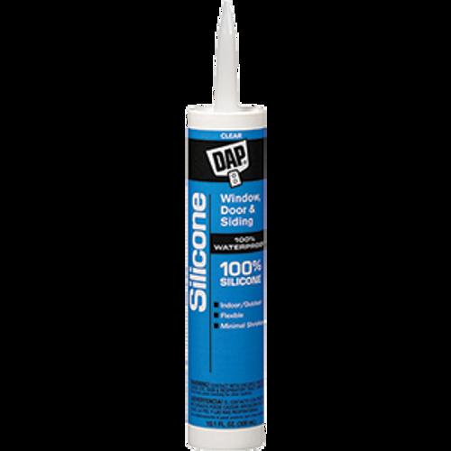 DAP 08641 10.1OZ CLEAR 100% SILICONE