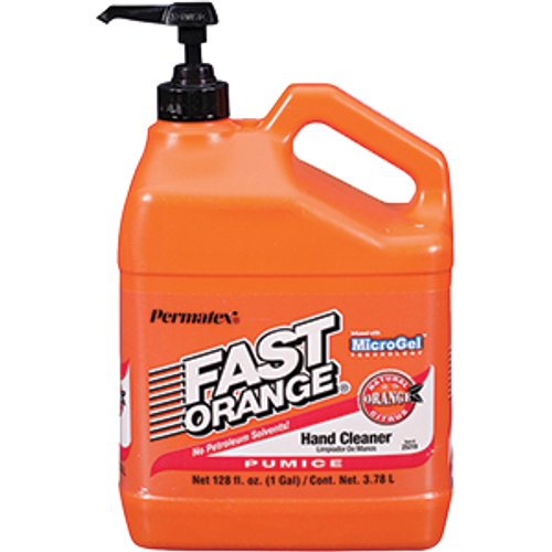 PERMATEX 25219 1G FAST ORANGE HAND CLEANER PUMICE LOTION WITH PUMP