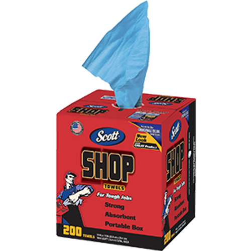 SCOTT 75190 BLUE SHOP TOWELS 200 PER BOX