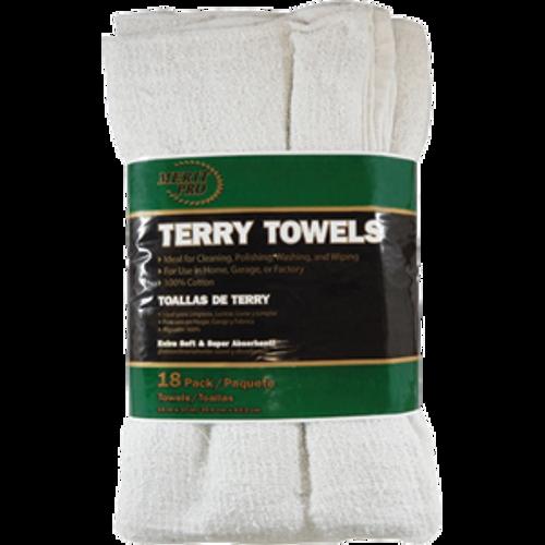 MERIT PRO #00811 TT18PMP 18PK TERRY TOWELS