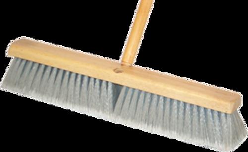 """DQB 10653 24"""" Grey Synthetic Broom (No Handle) - 12ct. Case"""