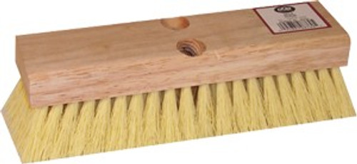 "DQB 08755 10"" White Tampico Deck Scrub Brush"
